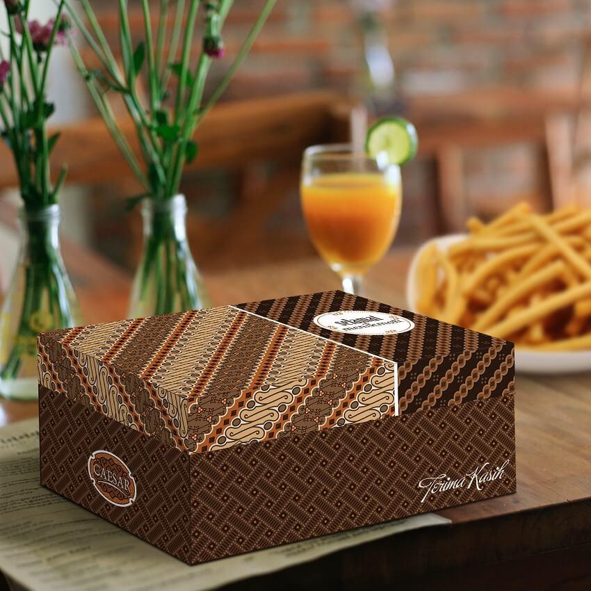 Kemasan Makanan Kekinian, Dus Makanan Unik, Box Makanan Unik - Caesar Batik R